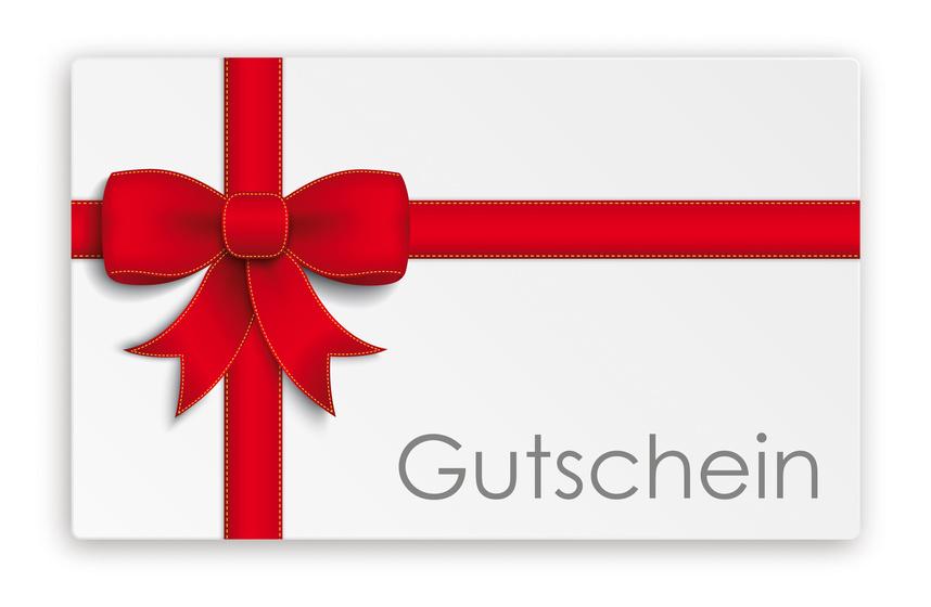 Bild auf dem Geschenkgutschein